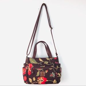Handbags - Koltov Brown Floral Purse